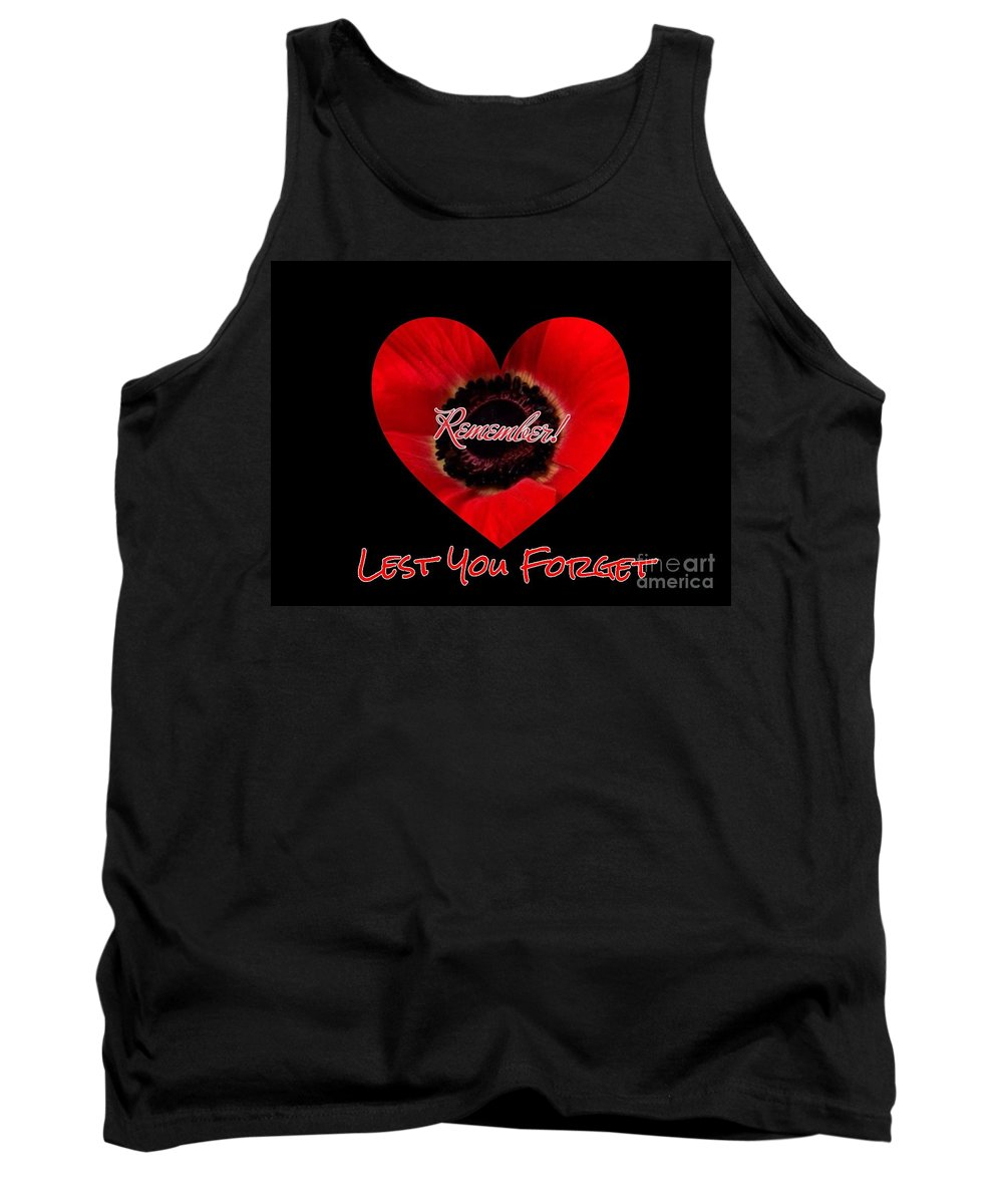 Poppies Tank Top featuring the photograph Remember With Love by Joan-Violet Stretch