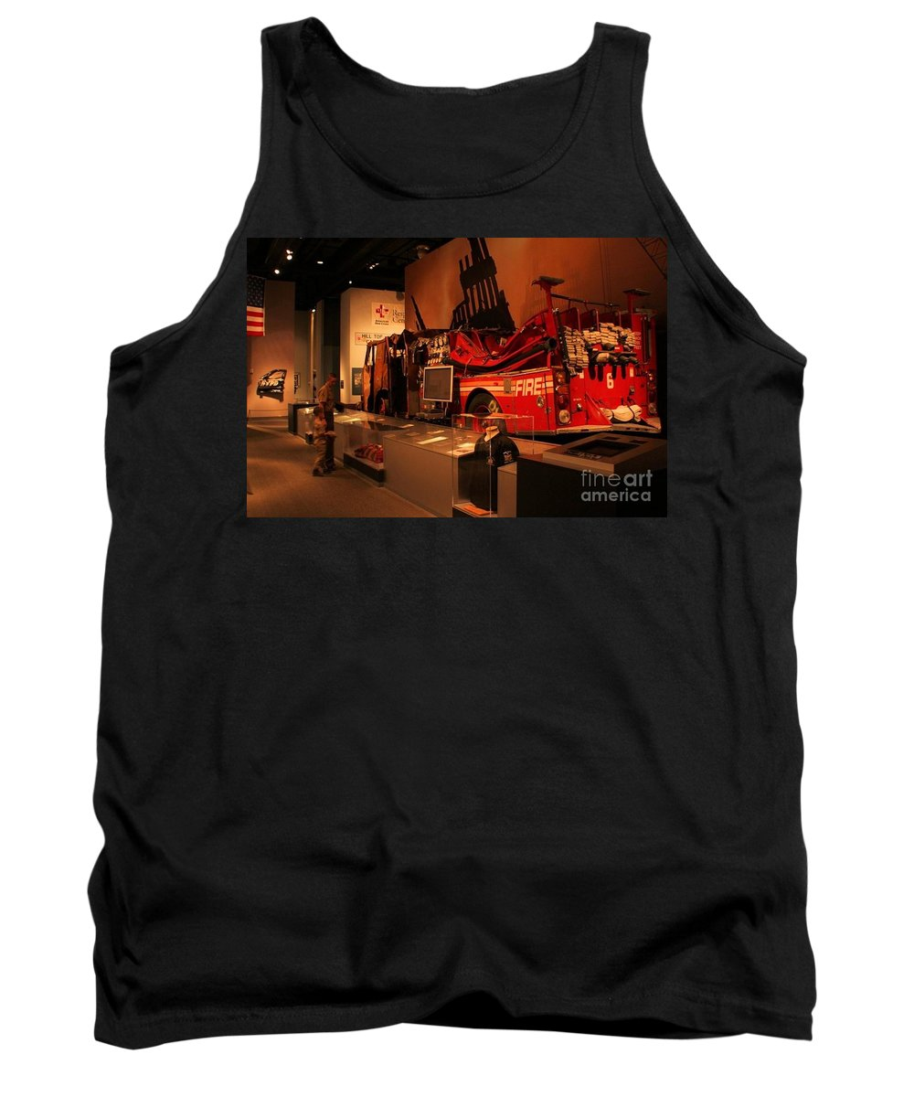 9/11 Memorial Tank Top featuring the photograph Remembering by Chet B Simpson
