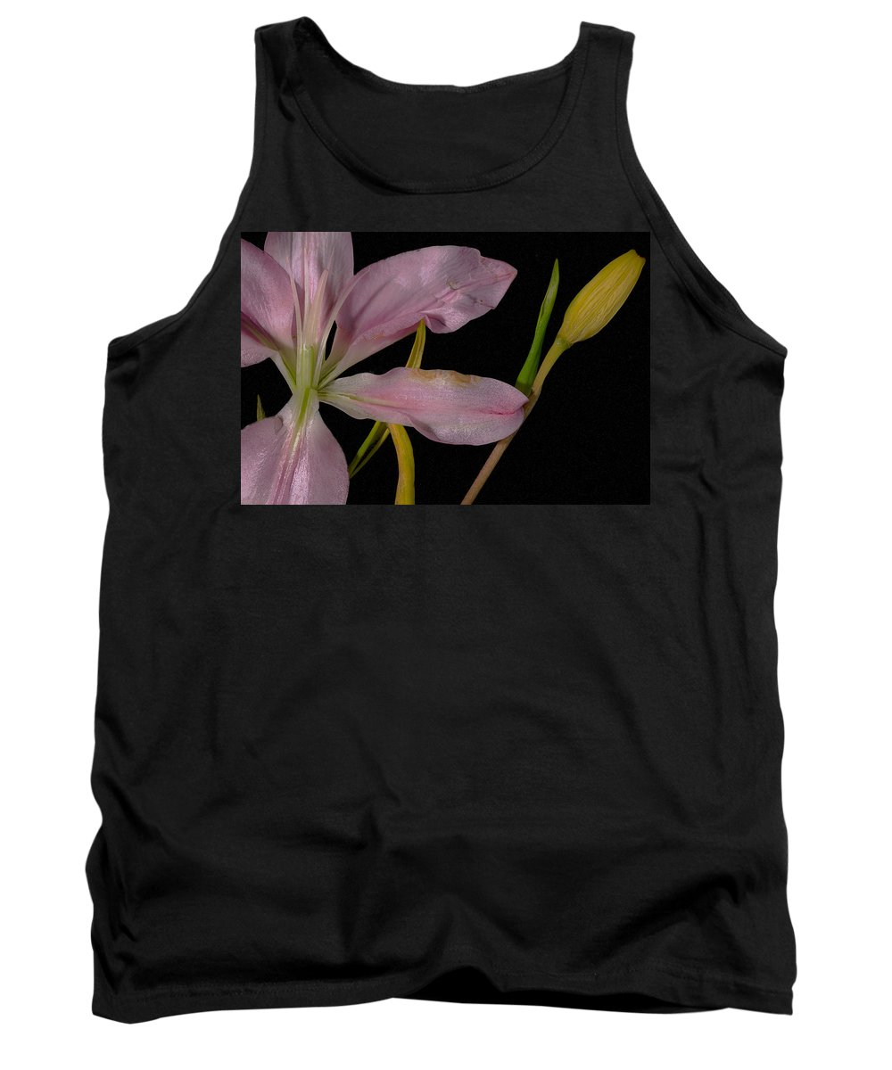 Lily Tank Top featuring the photograph Retiring Lily by David Stone