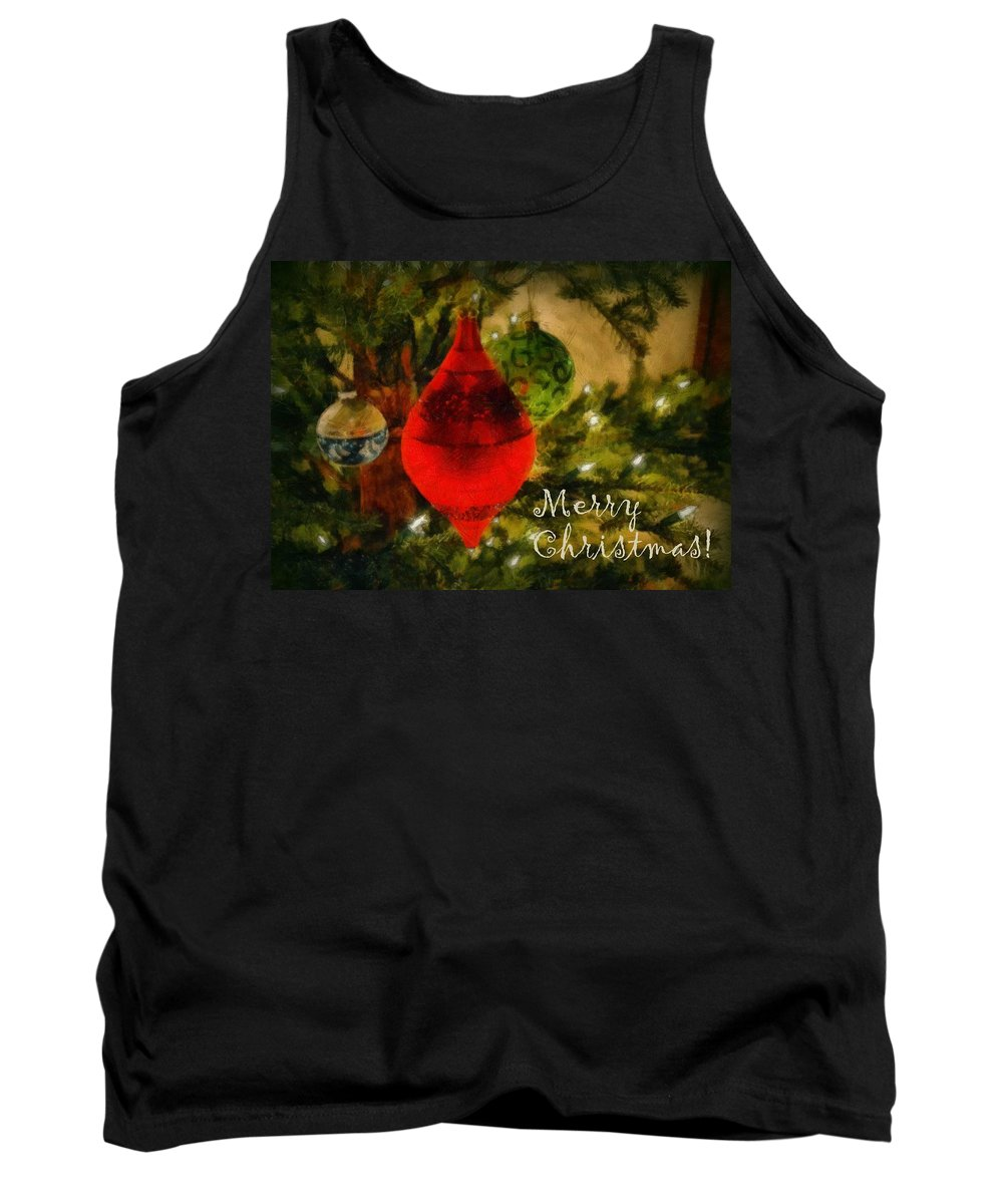 Merry Christmas Tank Top featuring the photograph Retro Christmas by Michelle Calkins