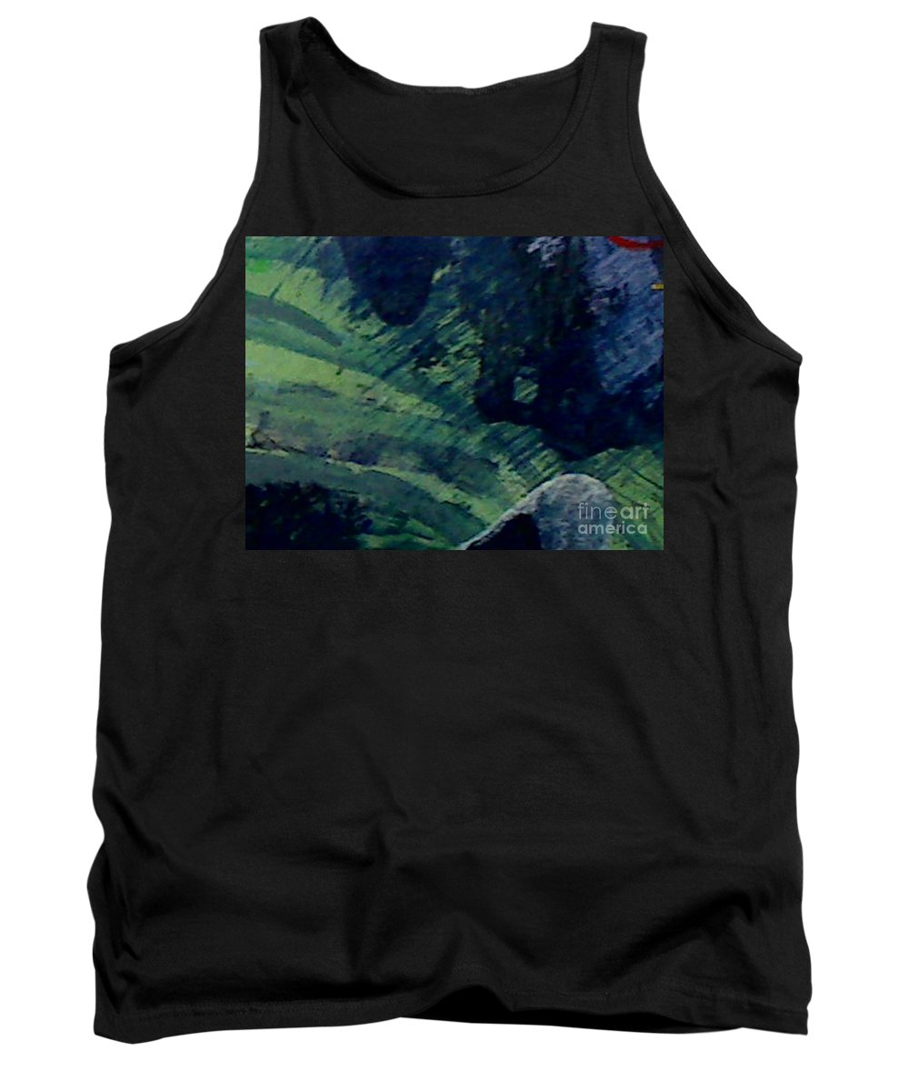 Abstract Tank Top featuring the painting Return To Forever by Mark Herman