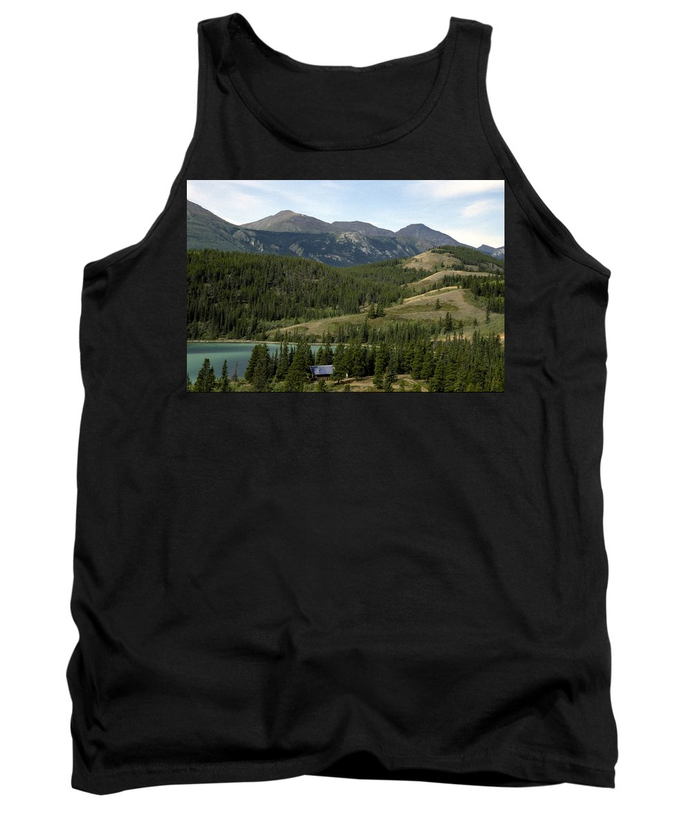 Alberta Tank Top featuring the photograph Ribbon Creek Rec Area by Roderick Bley