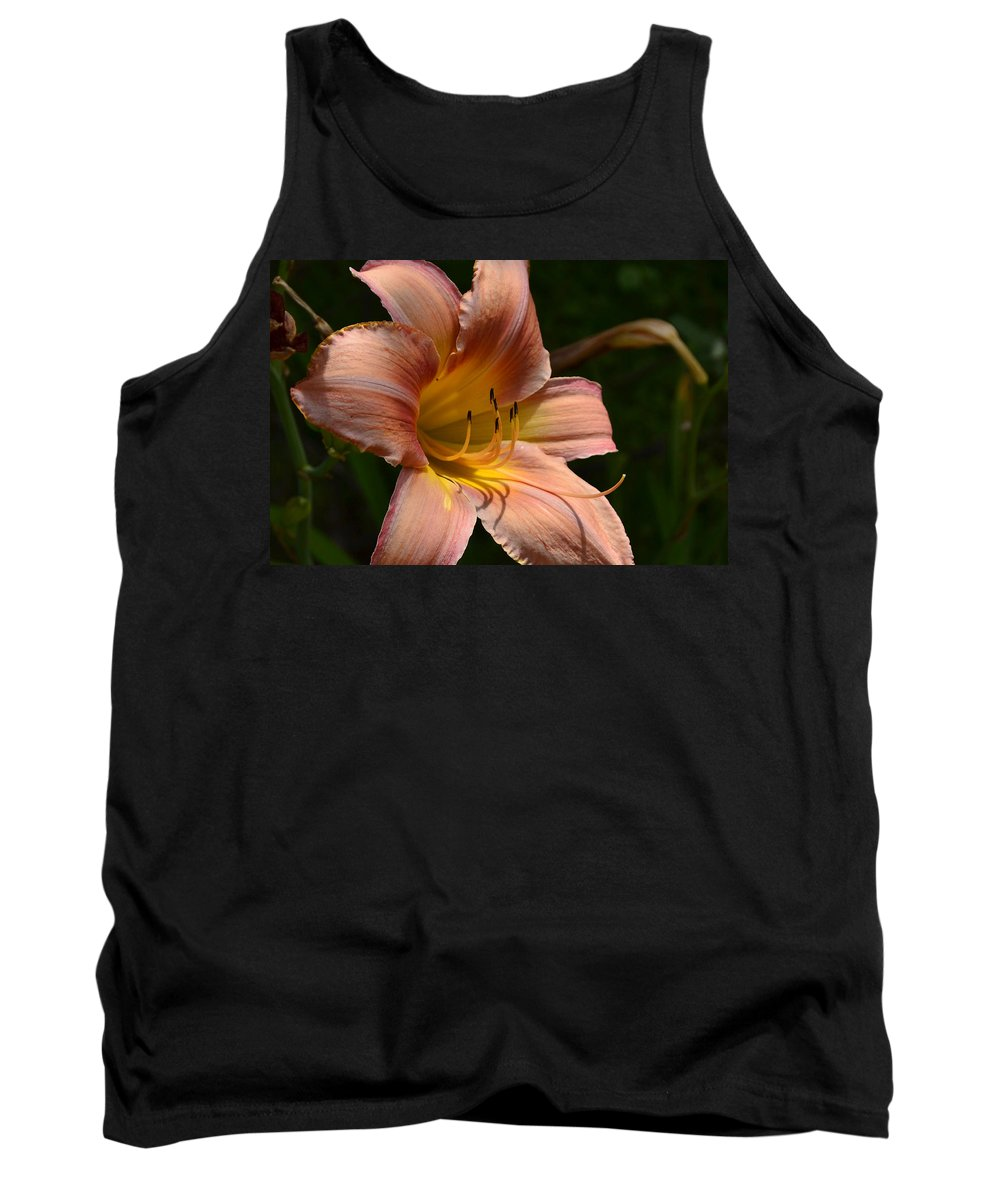 Lilies Tank Top featuring the photograph Rich Day by Larry Bishop