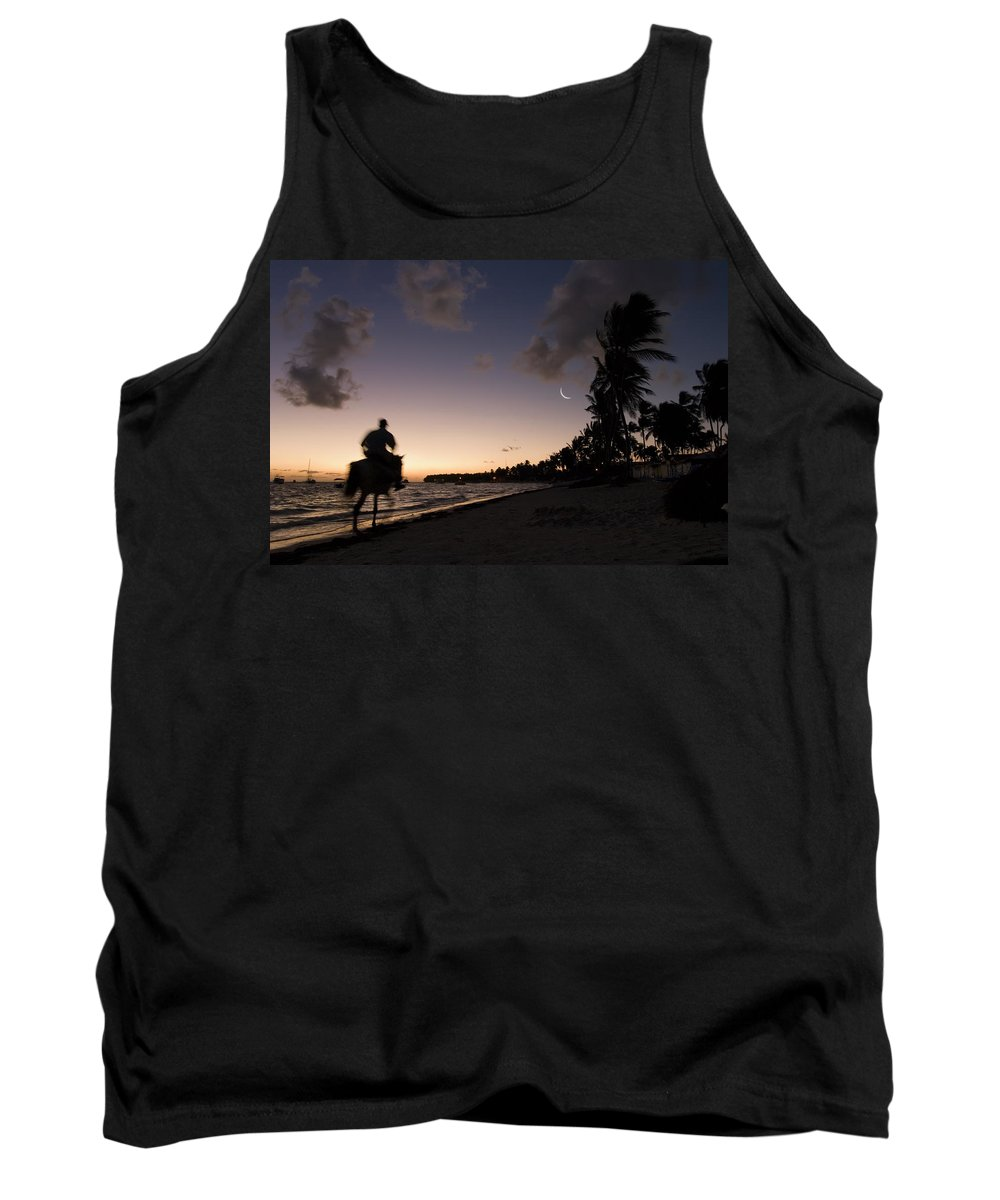 3scape Tank Top featuring the photograph Riding On The Beach by Adam Romanowicz
