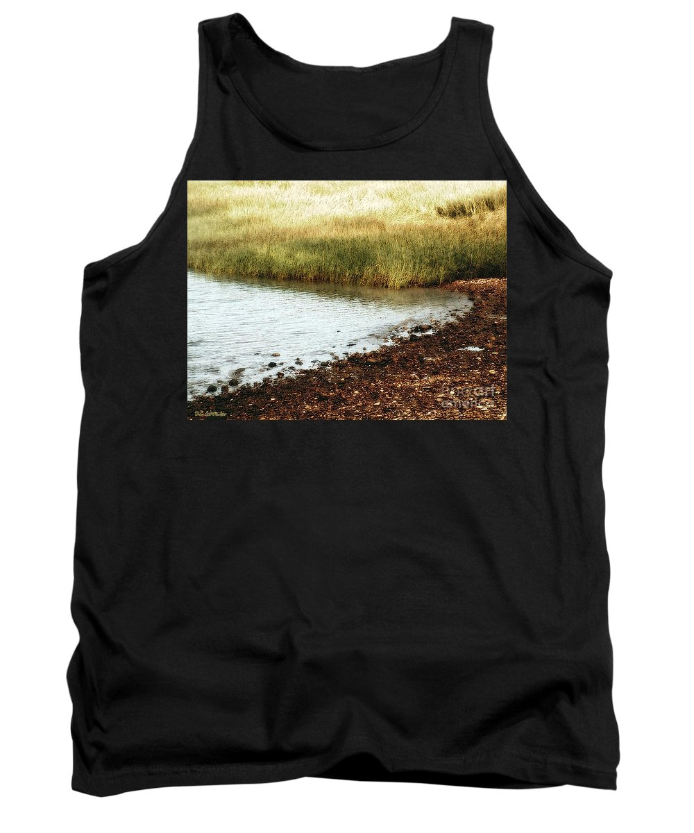 Marsh Tank Top featuring the painting Rippled Water Rippled Reeds by RC DeWinter