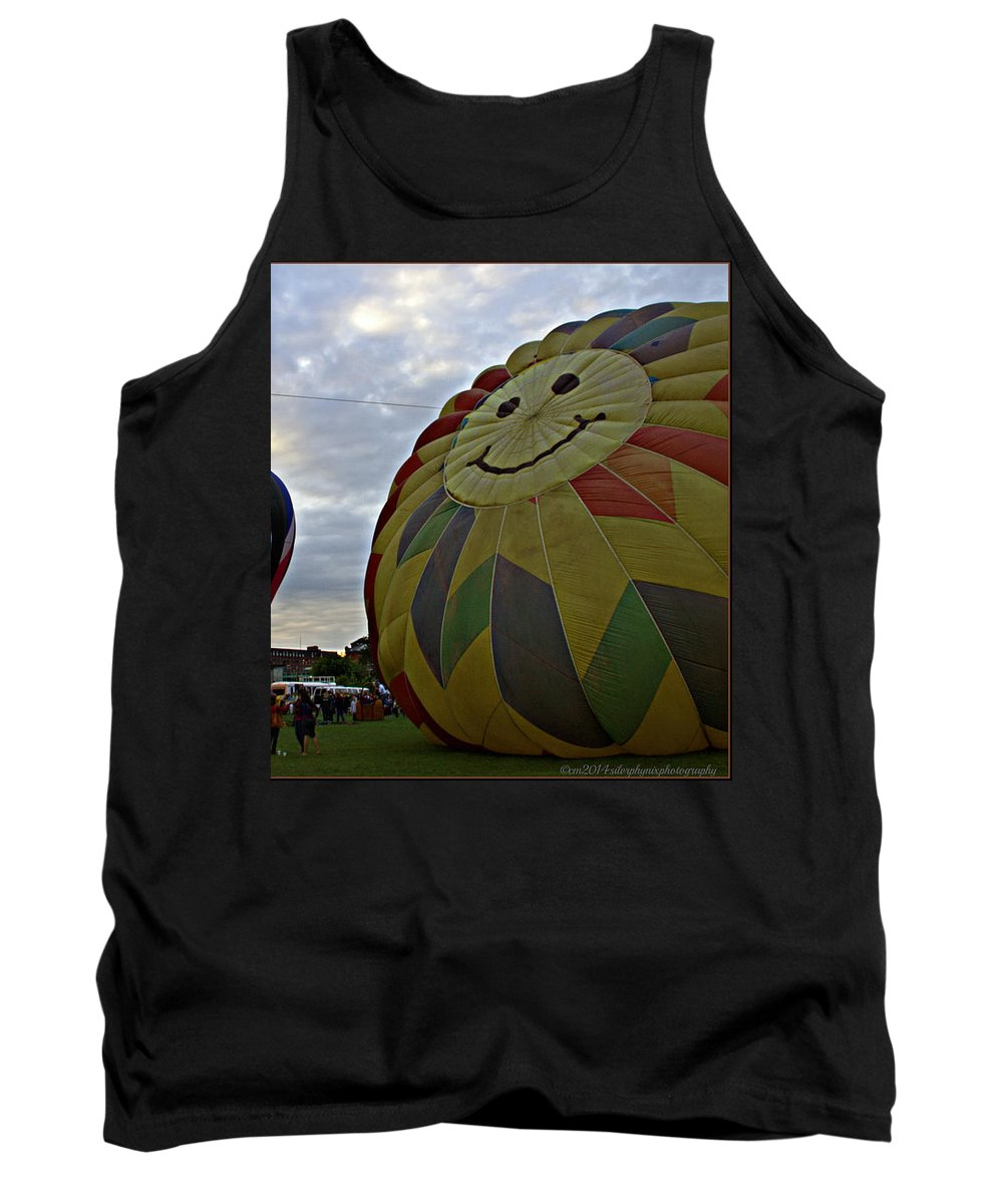 Hot Air Balloon Landscape Photography Tank Top featuring the photograph Rising Titans by Catherine Melvin