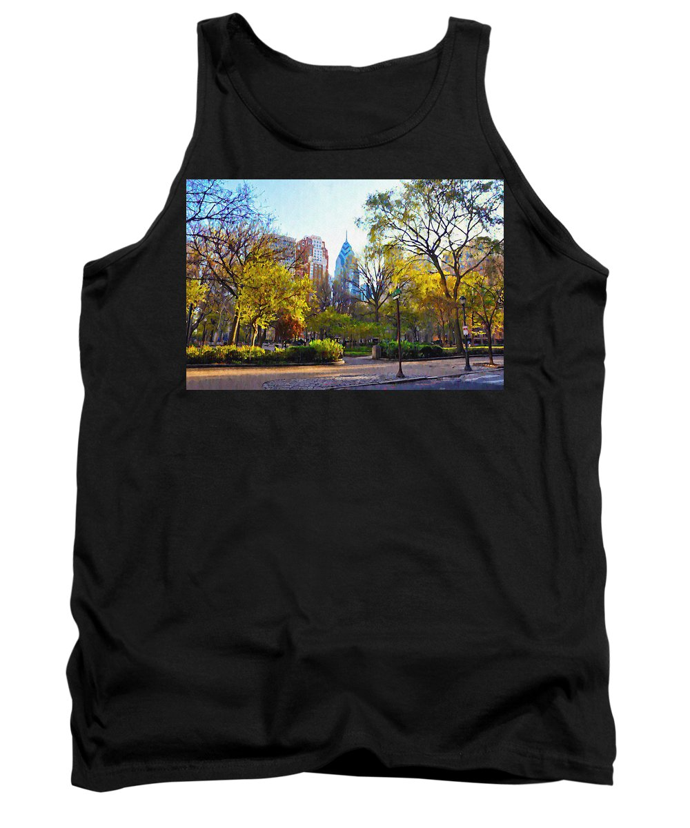 Rittenhouse Tank Top featuring the photograph Rittenhouse Square In The Spring by Bill Cannon