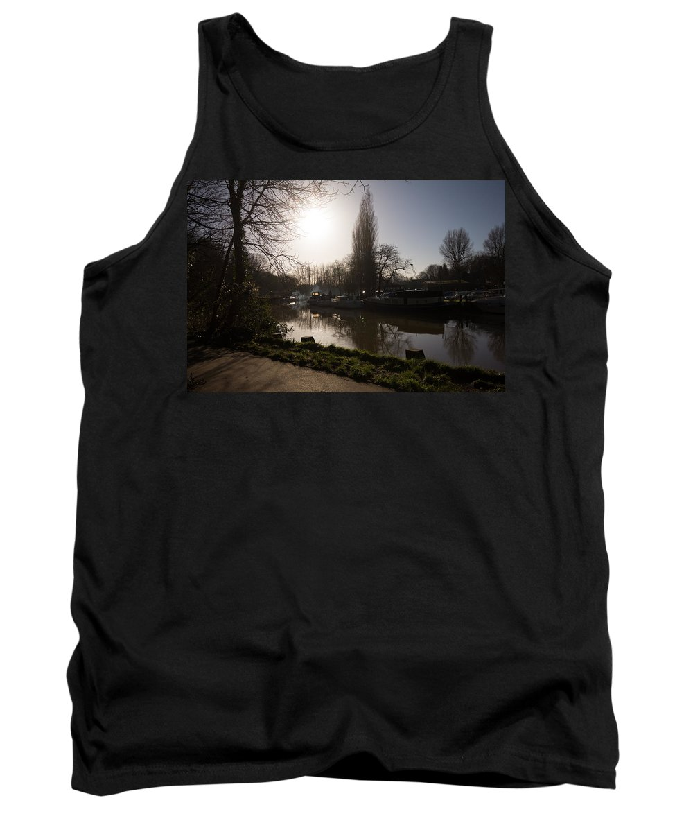 Allington Lock Tank Top featuring the photograph River Medway In Kent by Dawn OConnor
