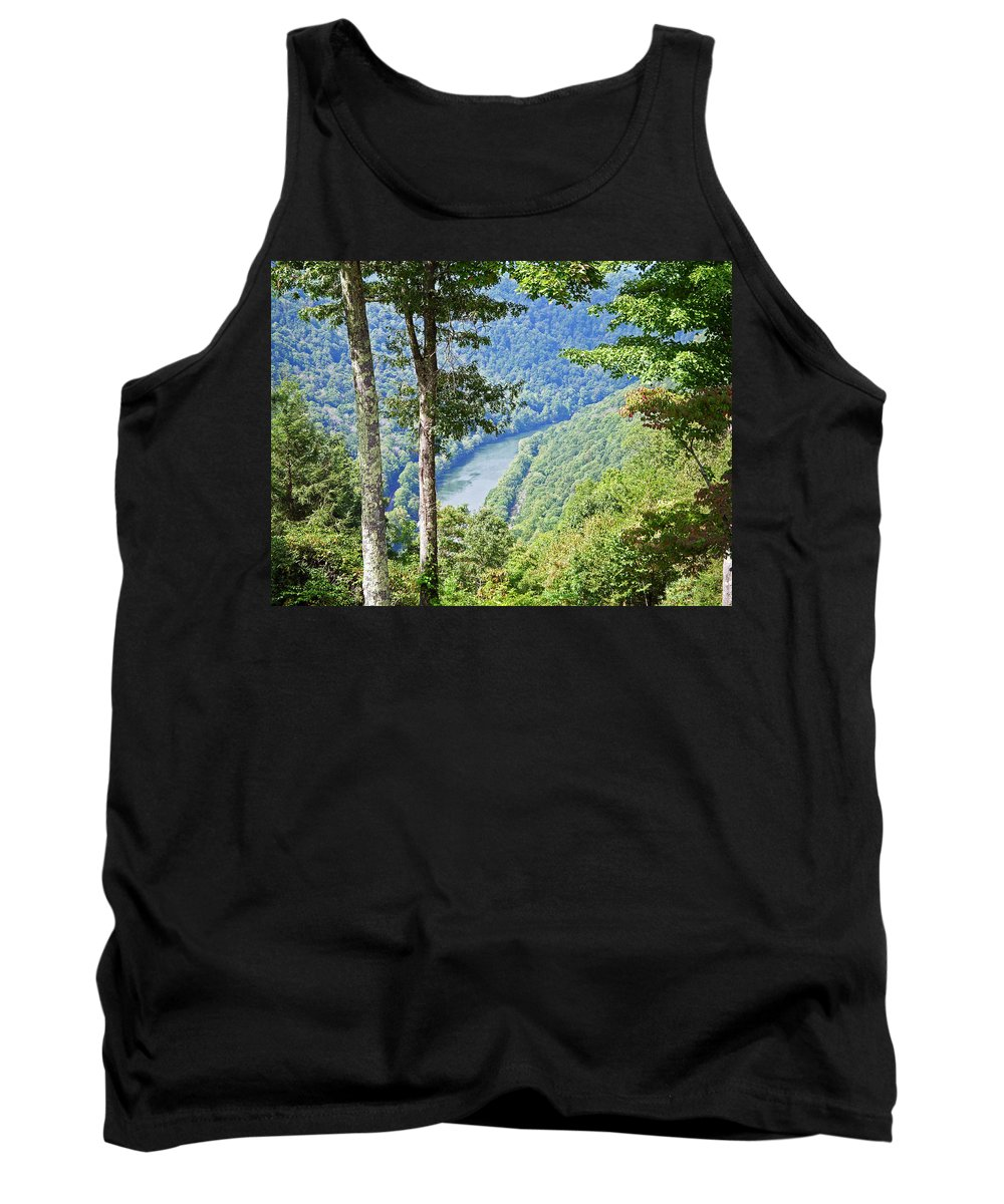 River Tank Top featuring the photograph River Thru The Trees by Aimee L Maher ALM GALLERY