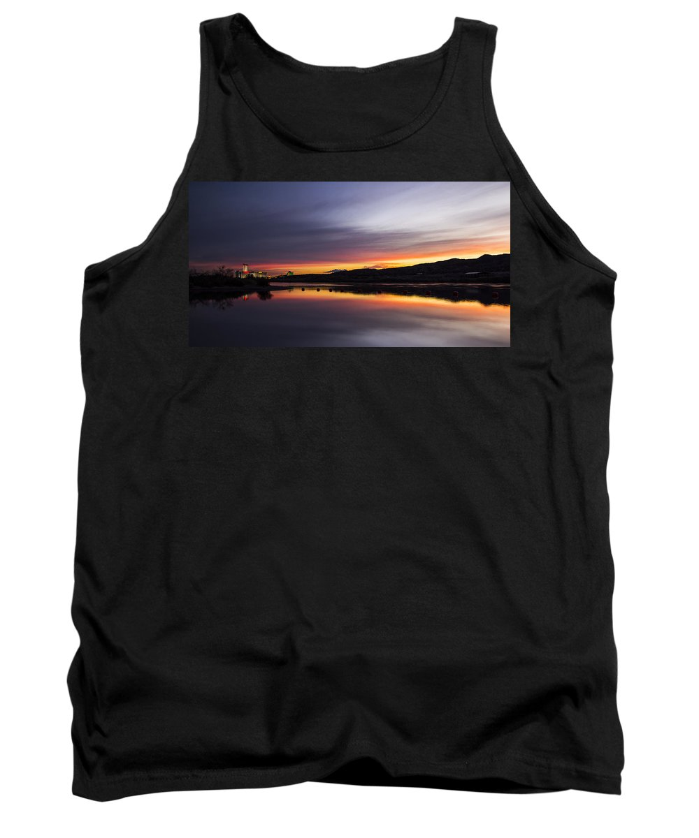 Camp Davis Tank Top featuring the photograph Riverscape by Angus Hooper Iii
