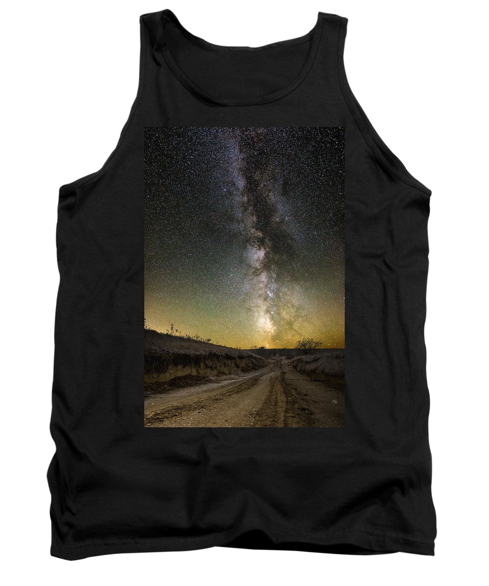 Great Rift Tank Top featuring the photograph Road To Nowhere - Great Rift by Aaron J Groen