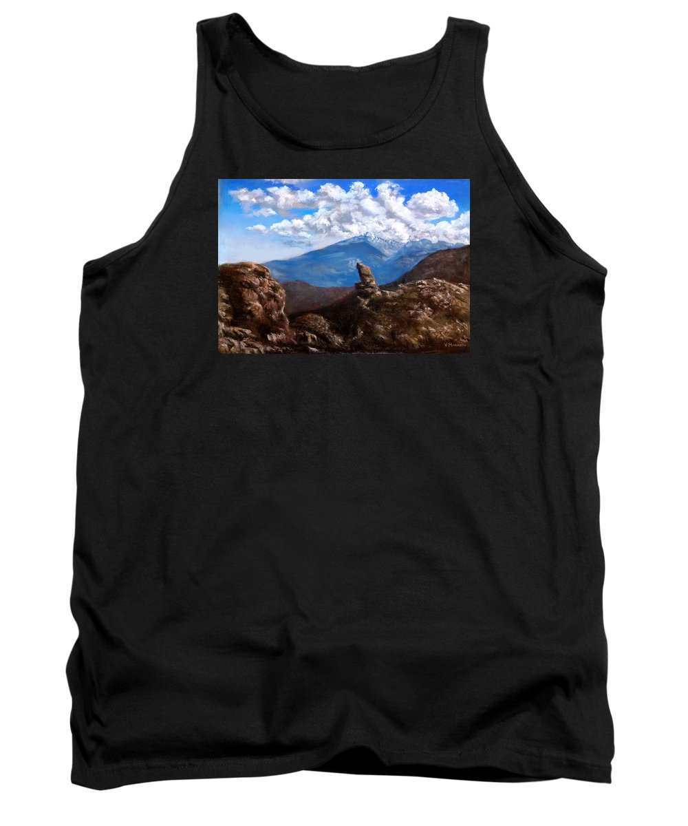 Rocky Mountain National Park Tank Top featuring the pastel Rocky Mountain High by Vincent Mancuso