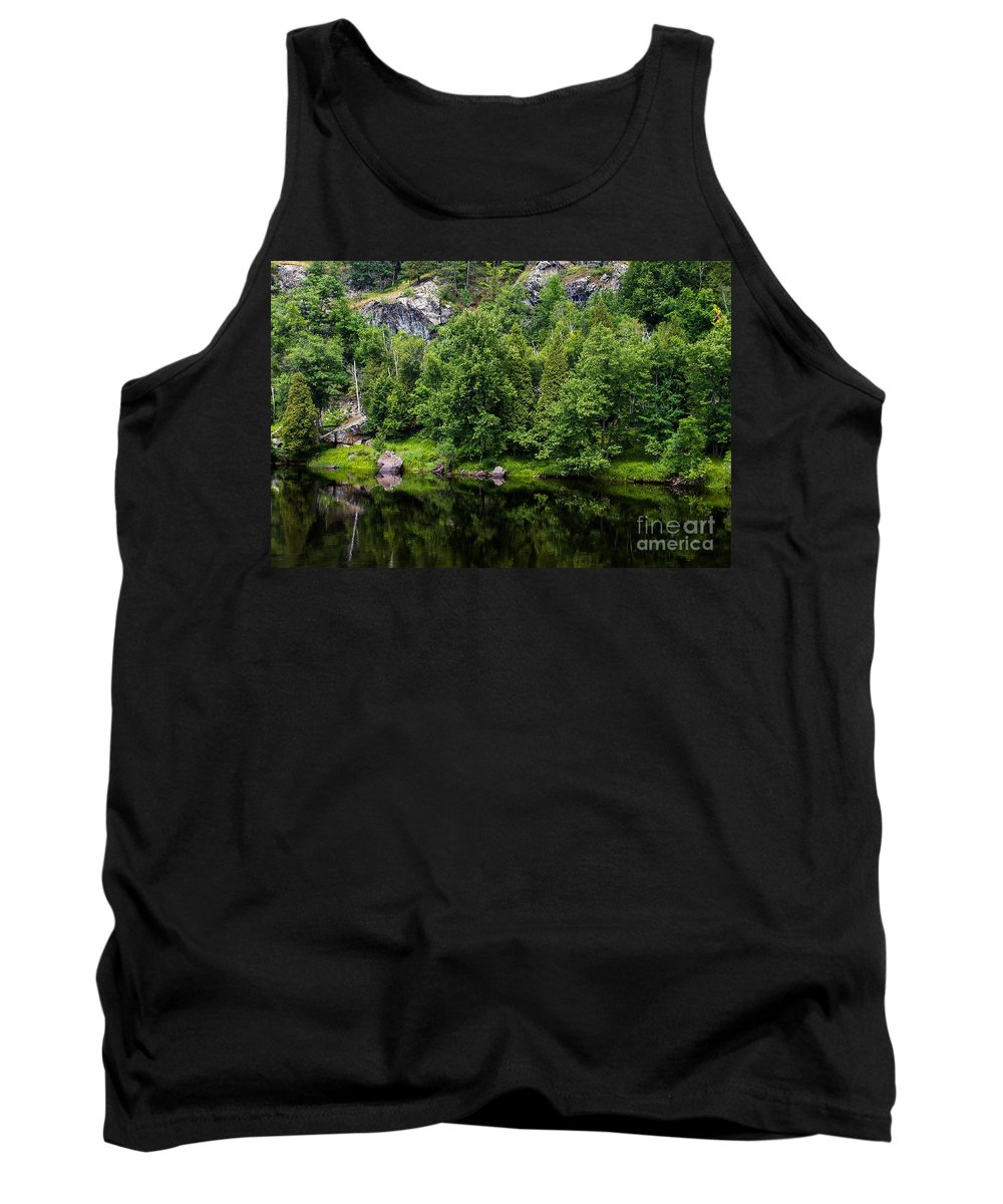 Reflection Tank Top featuring the photograph Rocky River Reflection by Nikki Vig