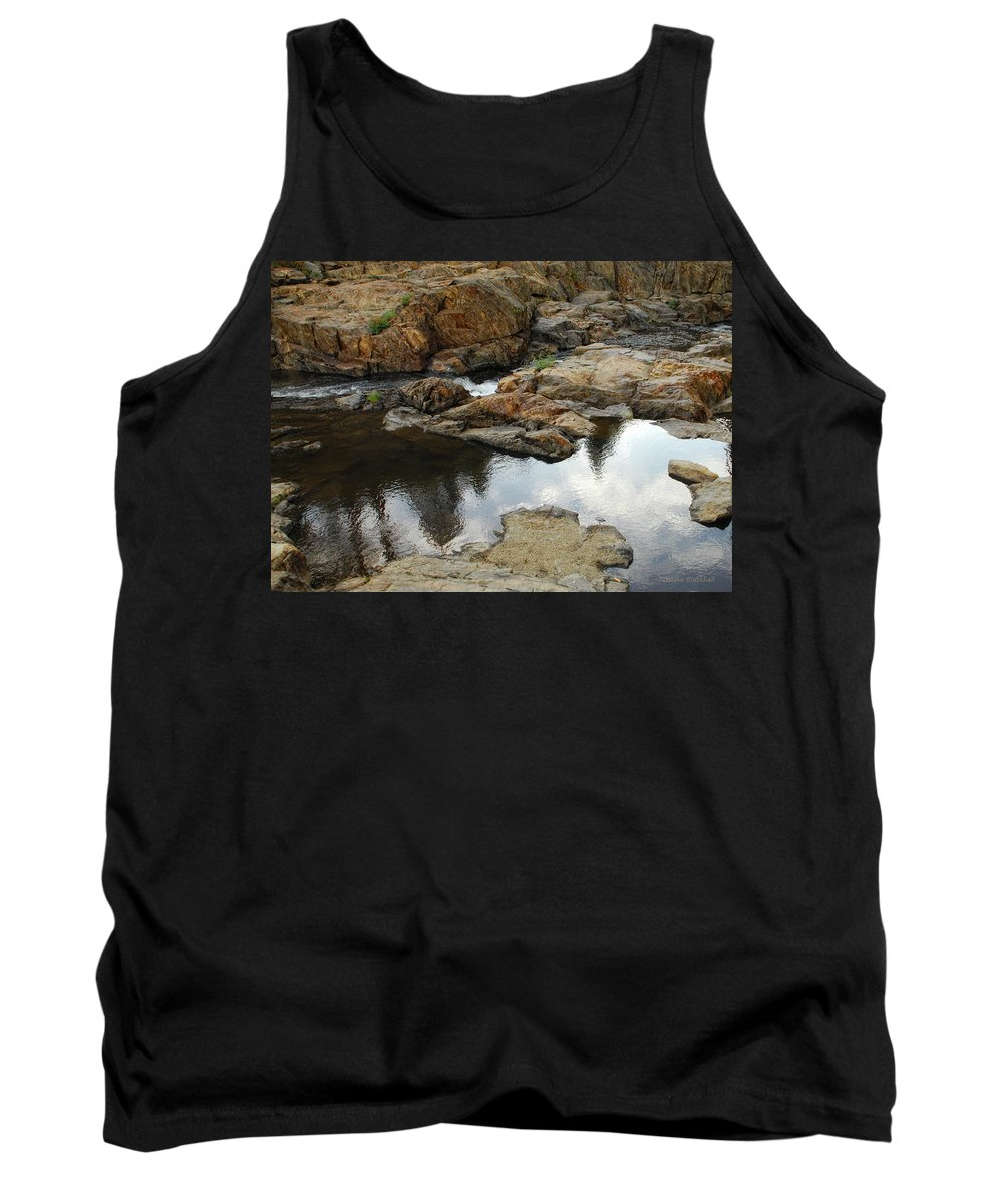 Rock Tank Top featuring the photograph Rocky Road by Donna Blackhall