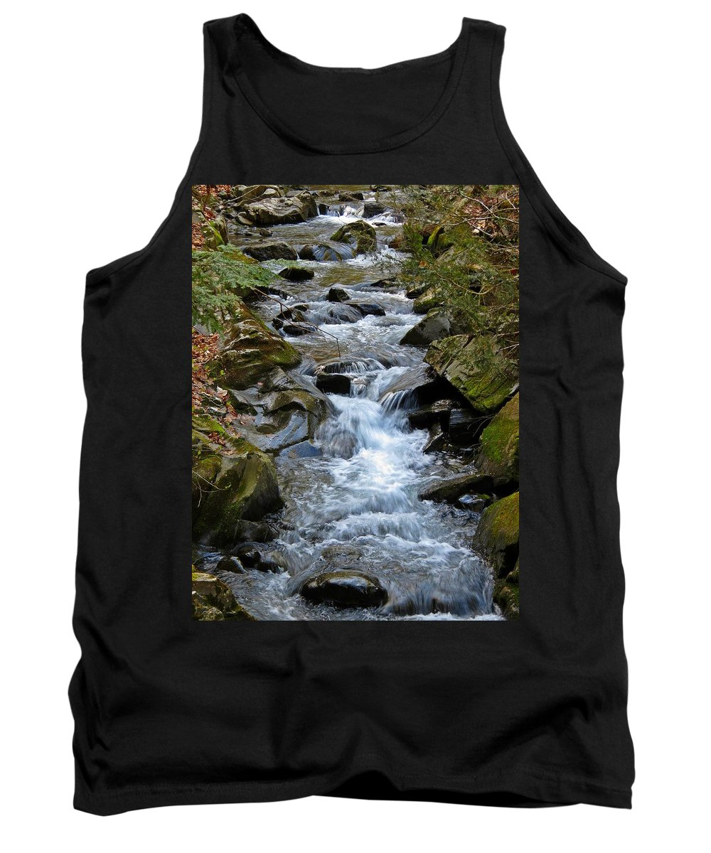 Stream Tank Top featuring the photograph Rocky Stream by MTBobbins Photography