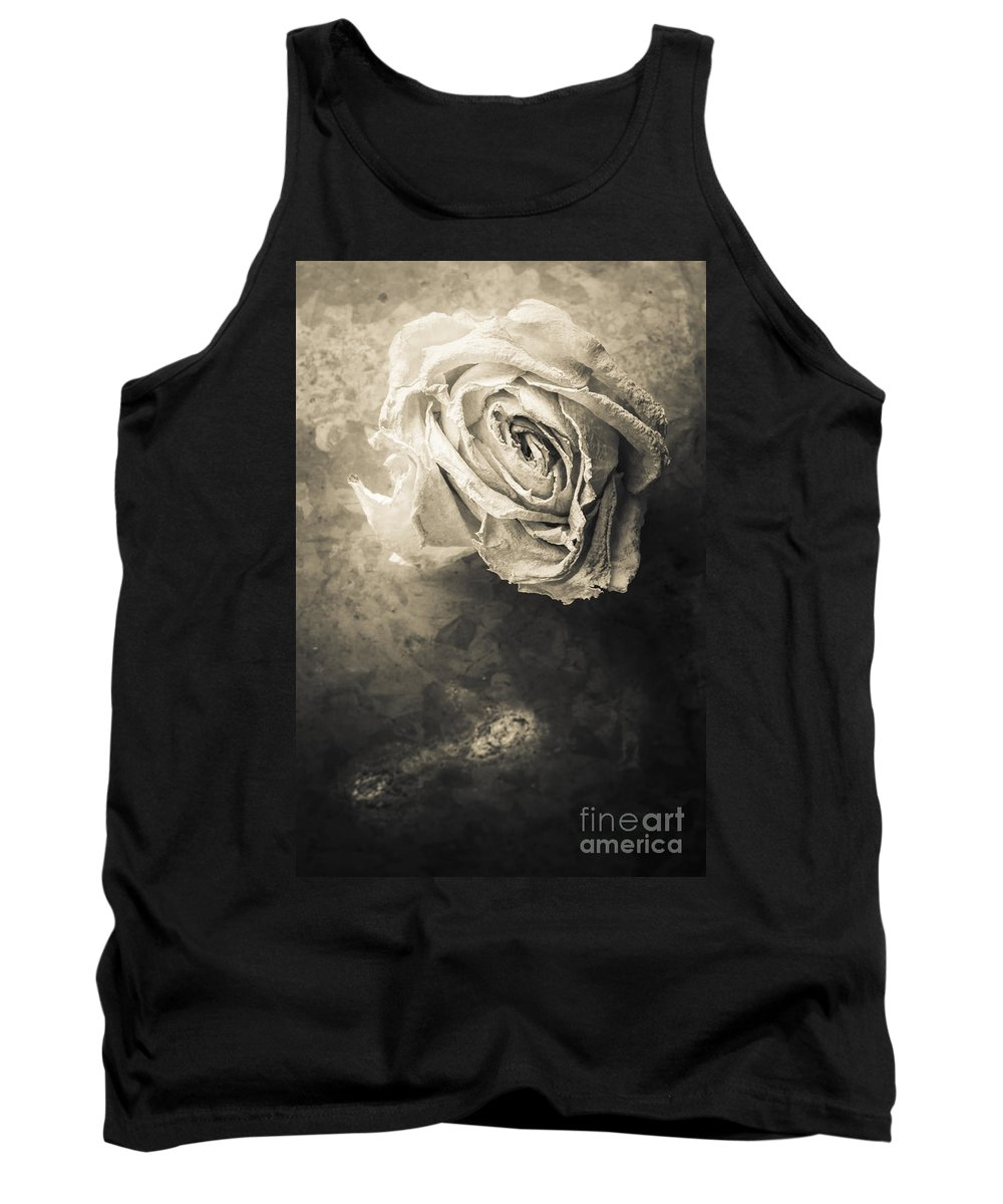 Studio Tank Top featuring the photograph Rose From Another Day by Edward Fielding