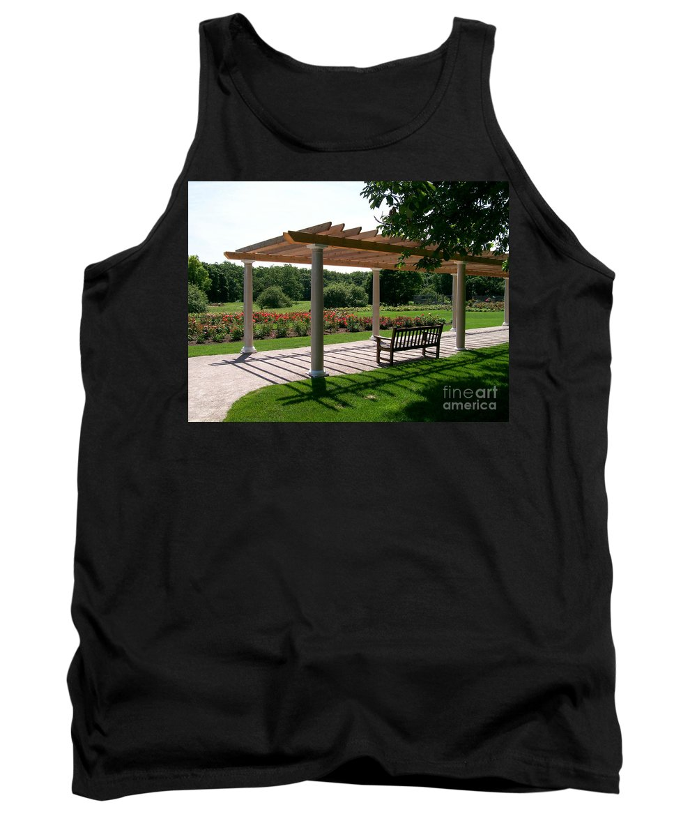 Rose Tank Top featuring the photograph Rose Garden Retreat by Laurie Eve Loftin