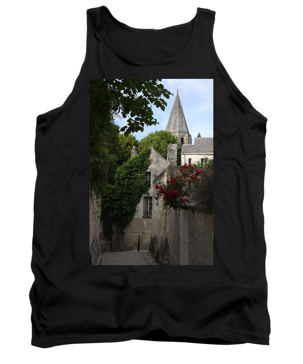 Narrow Street Tank Top featuring the photograph Rose Lane In Loches by Christiane Schulze Art And Photography