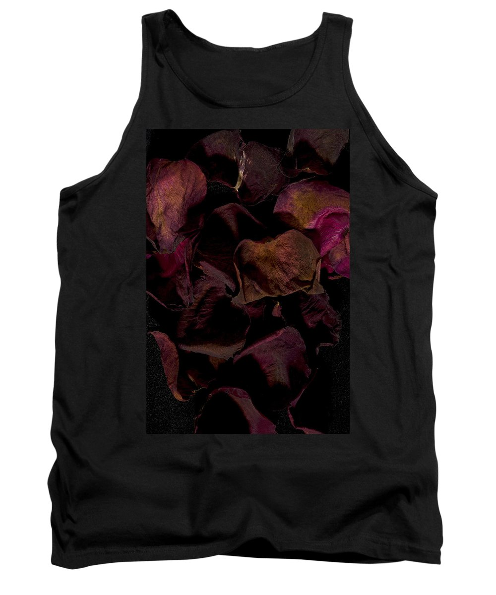 Rose Tank Top featuring the photograph Rose Petals #4 by David Stone