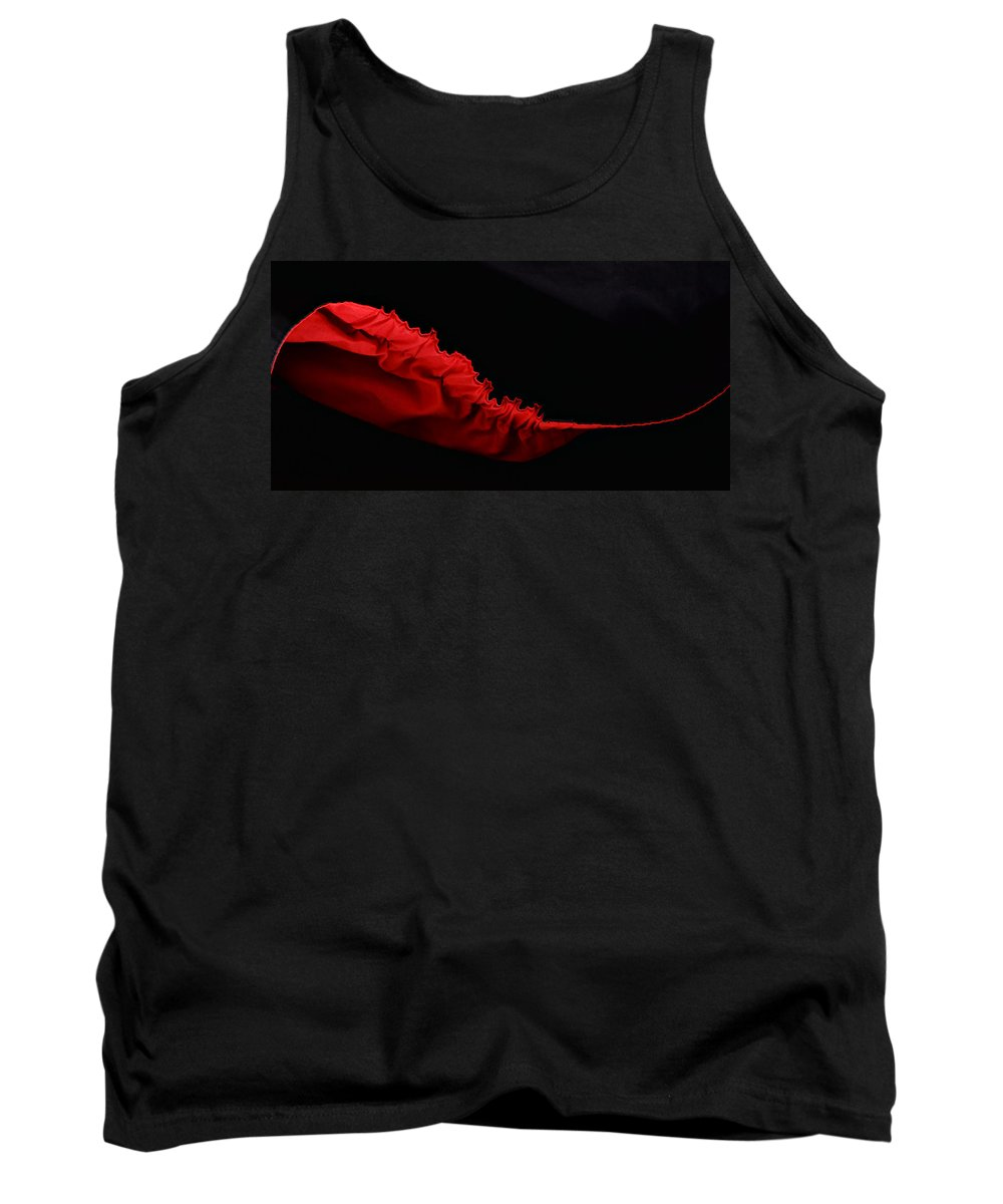 Abstract Tank Top featuring the photograph Rouge Et Noir - Red And Black - Abstract by Nikolyn McDonald