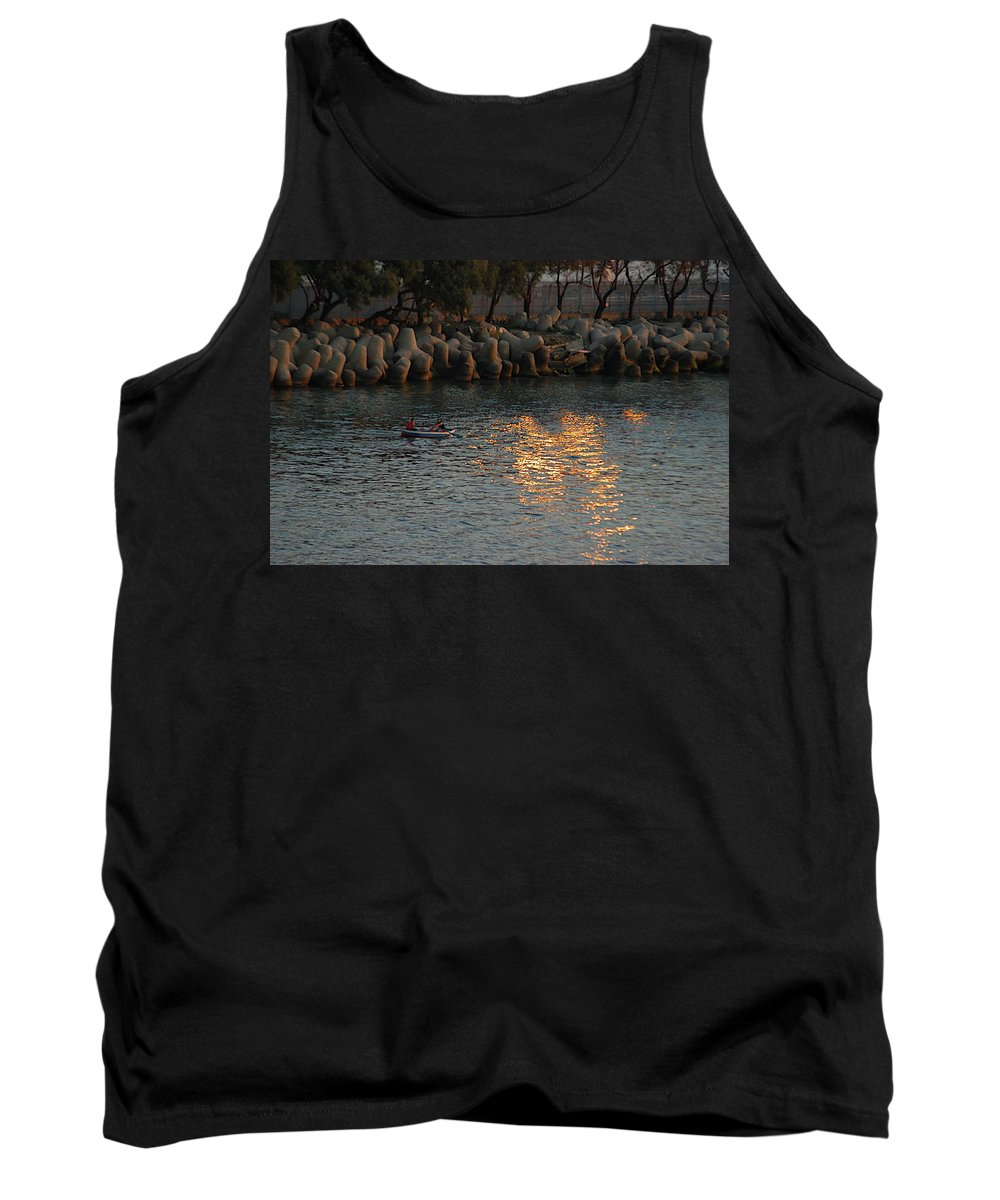 Breakwater Tank Top featuring the photograph Rough Sea by Joseph Yarbrough