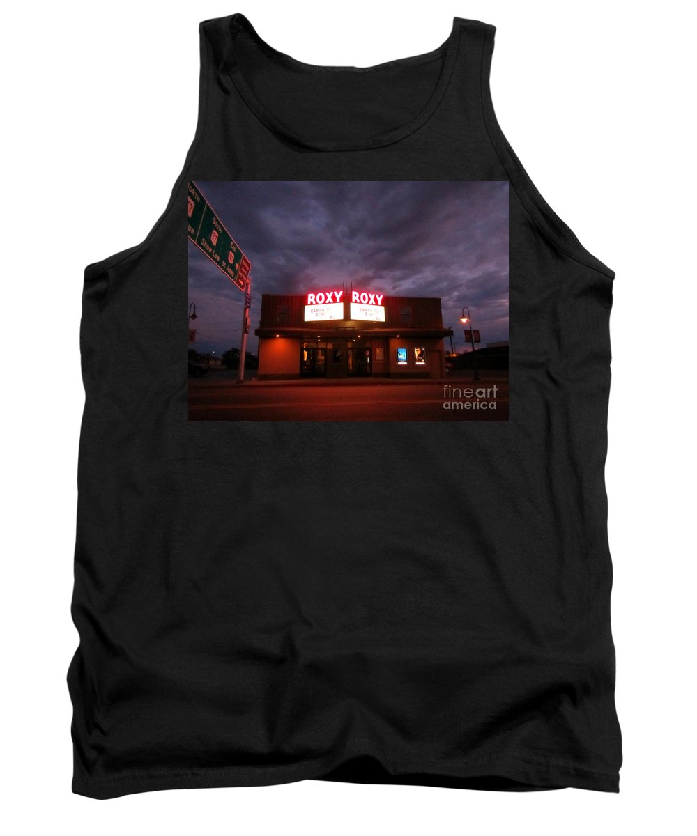Night Scenes Tank Top featuring the photograph Roxy Theatre by John Malone