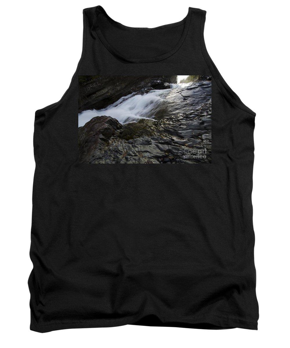 River Tank Top featuring the photograph Run River Run 2 by Bob Christopher