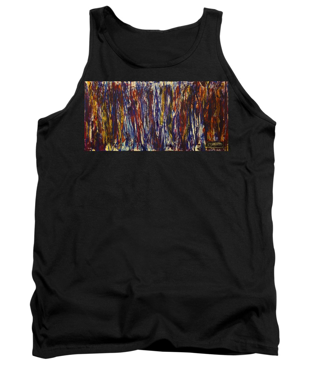 Jack Tank Top featuring the painting Rush Hour by Jack Diamond