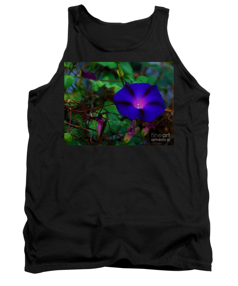 Morning Glory Tank Top featuring the photograph Rust And Glory by Angela J Wright
