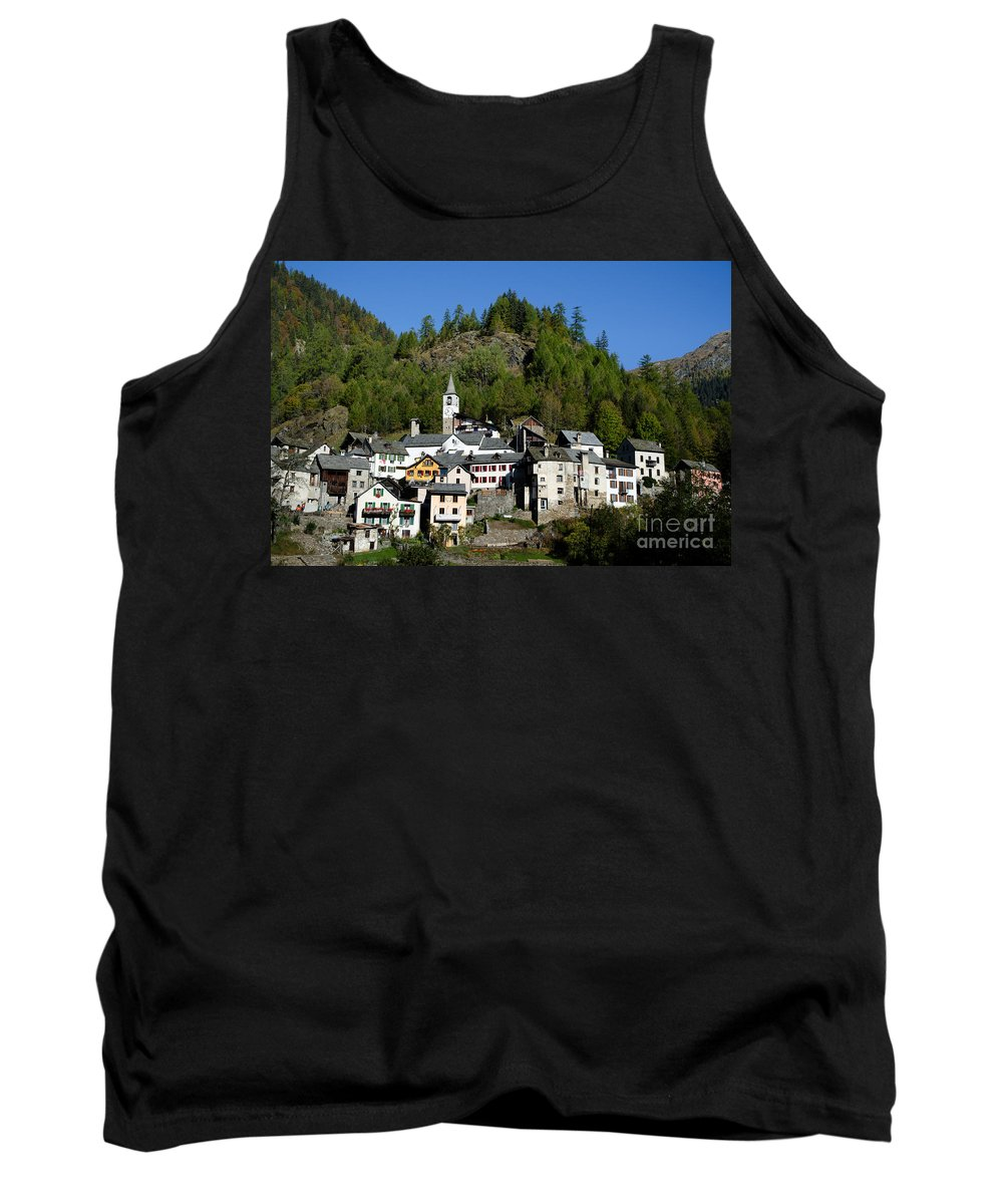 Village Tank Top featuring the photograph Rustic Alpine Village by Mats Silvan