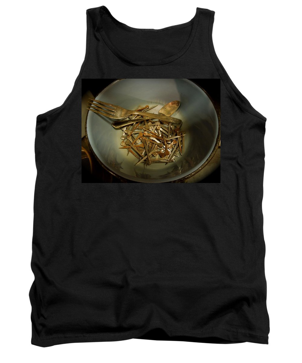 Rustic Tank Top featuring the photograph Rustic Tools by Donna Jackson