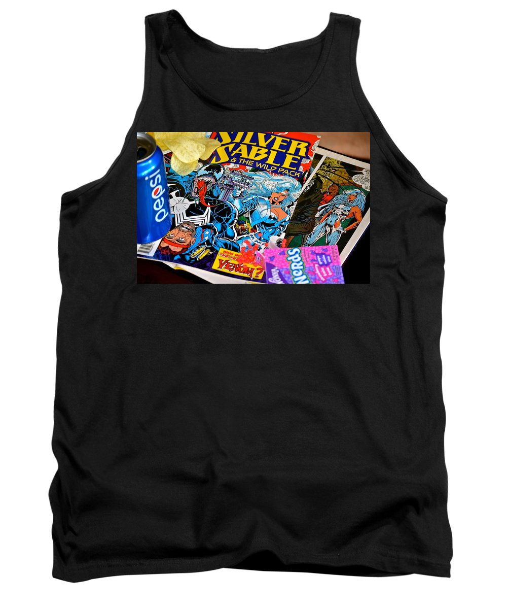 Comics Tank Top featuring the photograph Sable by Stephanie Bland