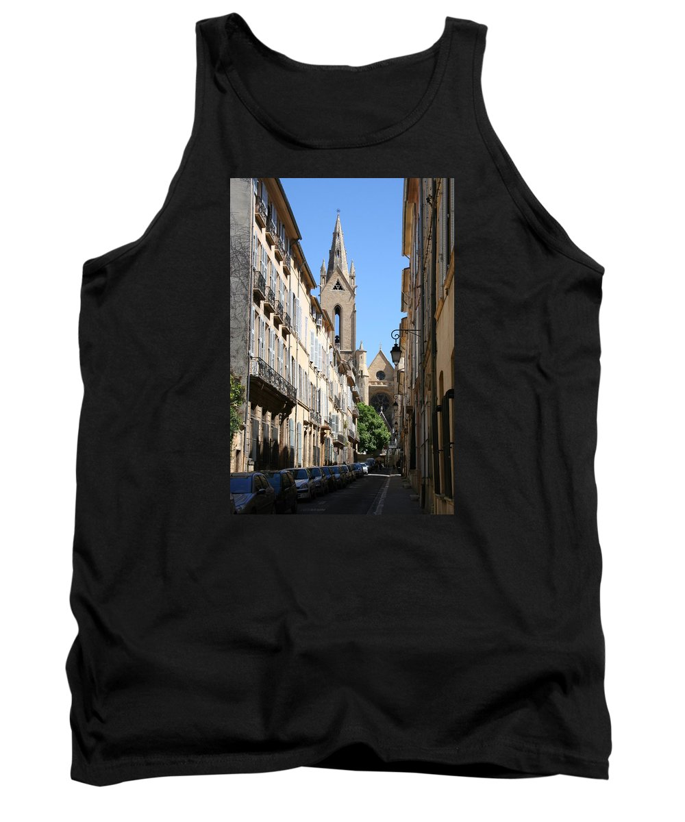 Church Tank Top featuring the photograph Saint Jean De Malte - Aix En Provence by Christiane Schulze Art And Photography