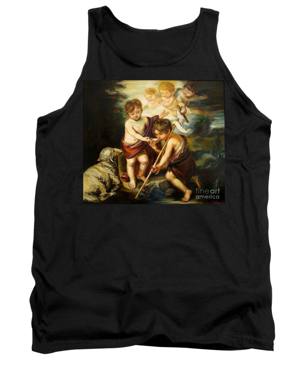 Classic Art Tank Top featuring the painting Saint John Baptist by Silvana Abel