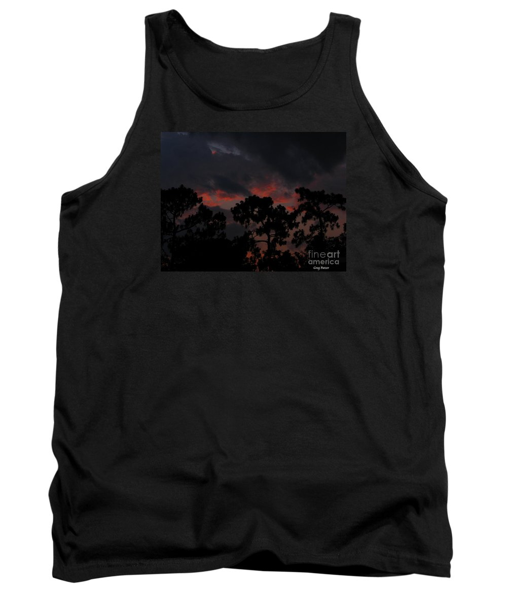 Art For The Wall...patzer Photography Tank Top featuring the photograph Salmon Sunset by Greg Patzer