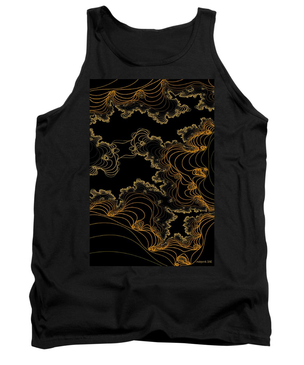 Owlspook Tank Top featuring the digital art Sand Seafoam And Sky by Owlspook