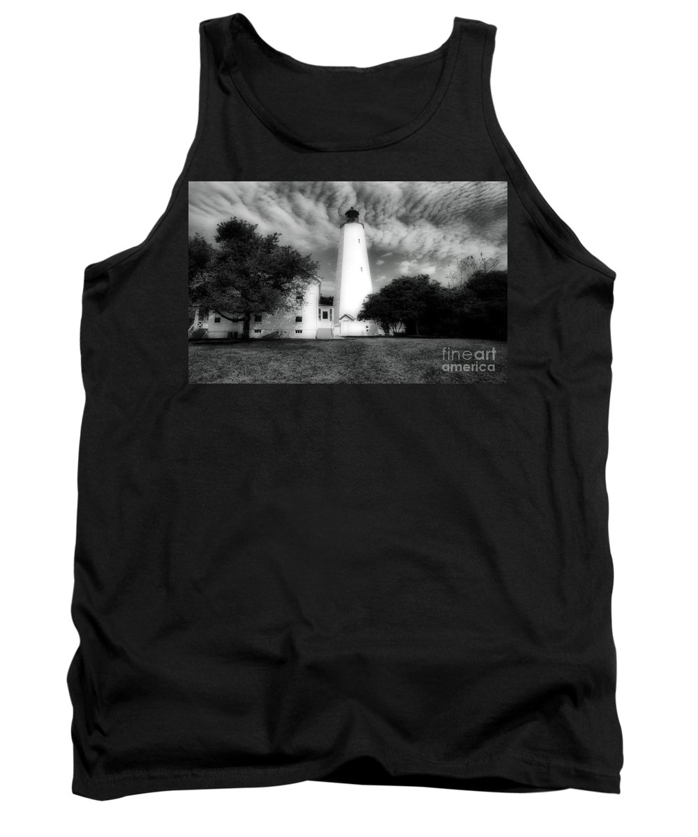 Lighthouses Tank Top featuring the photograph Sandy Hook Lighthouse by Skip Willits