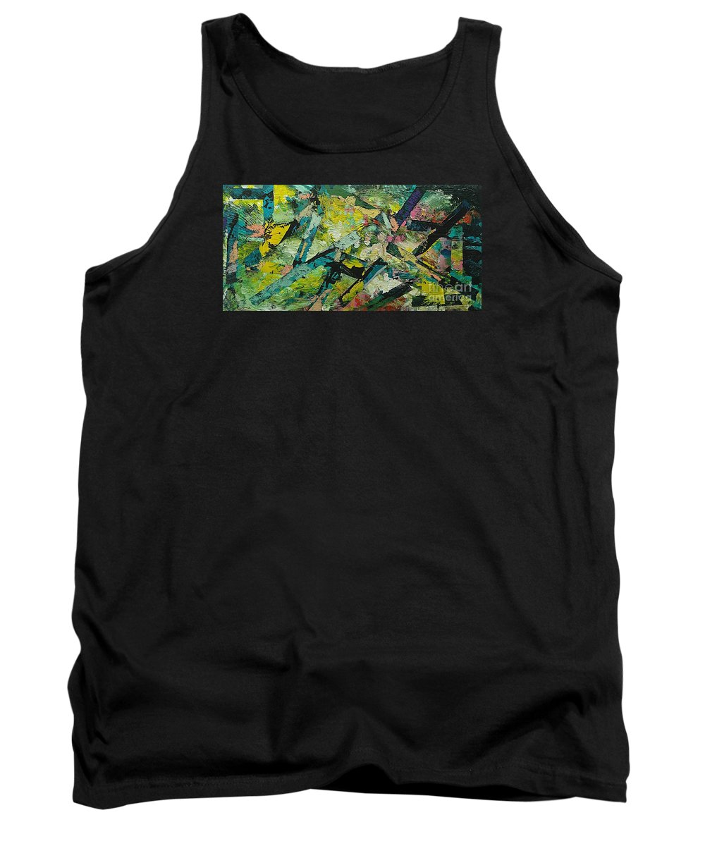 Landscape Tank Top featuring the painting Saturday Night by Allan P Friedlander