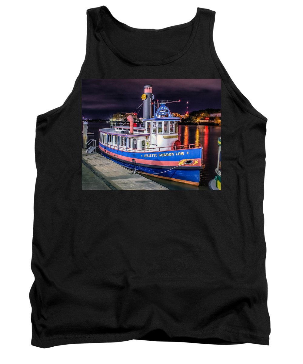 America Tank Top featuring the photograph Savannah Belle Dot Ferry by Rob Sellers