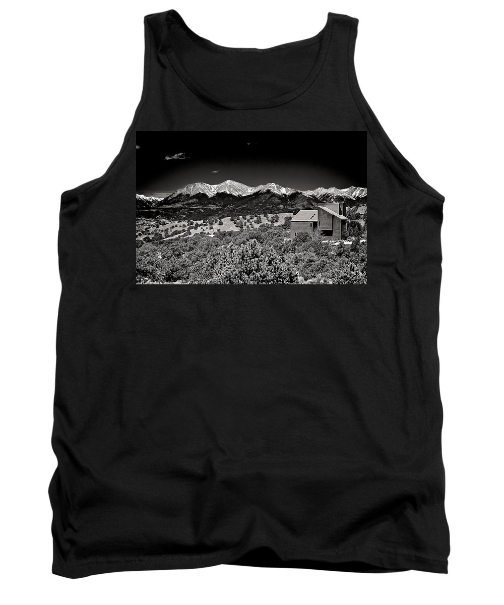 Santa Tank Top featuring the mixed media Sawatch by Charles Muhle