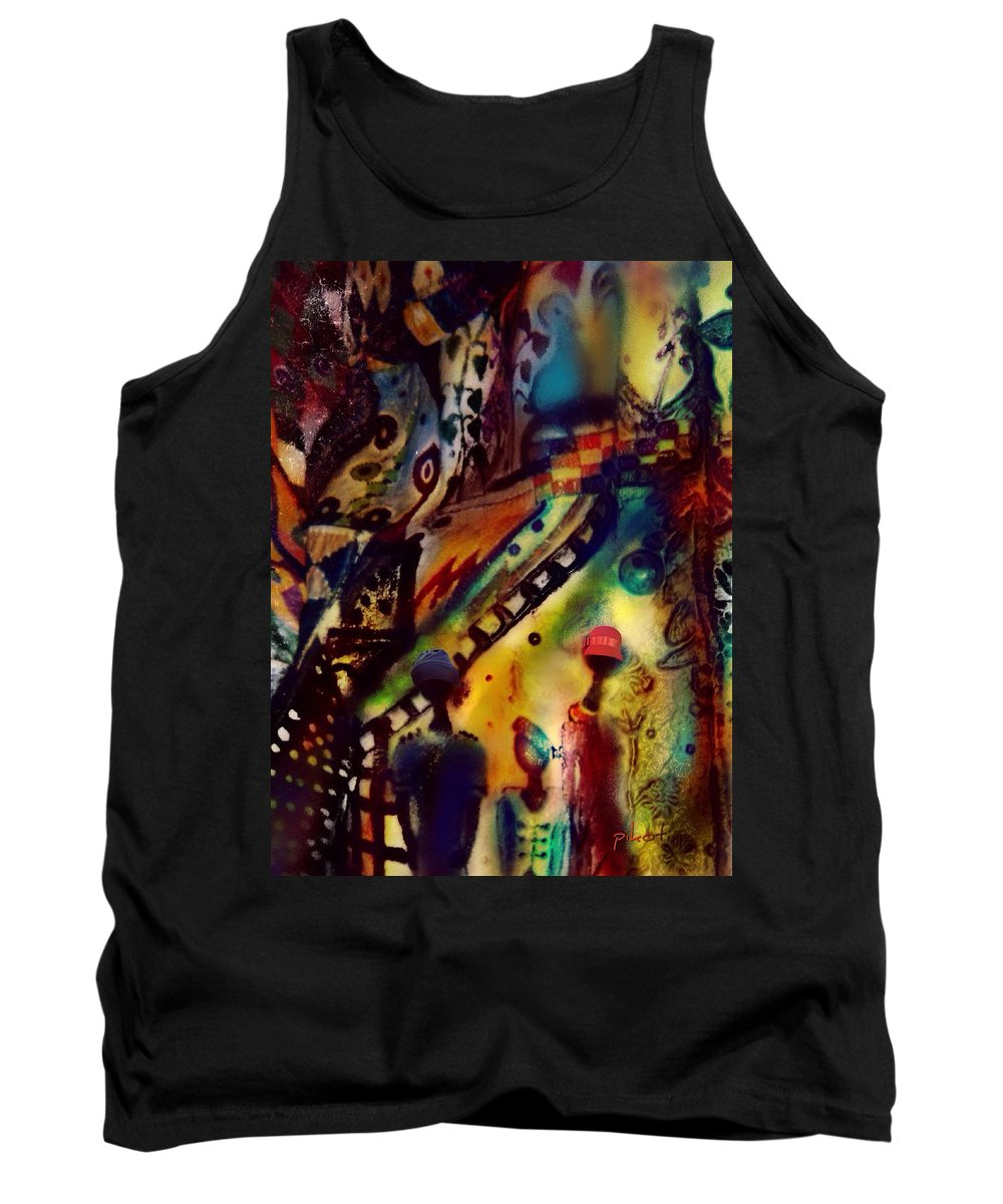Searching Tank Top featuring the digital art Searching by Pikotine Art