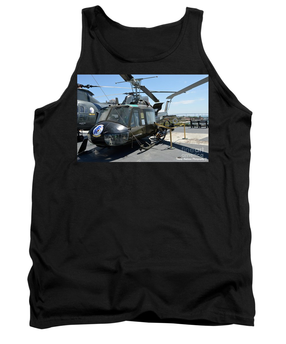 Uh-1 Huey Tank Top featuring the photograph Seawolves Uh-1 by Tommy Anderson