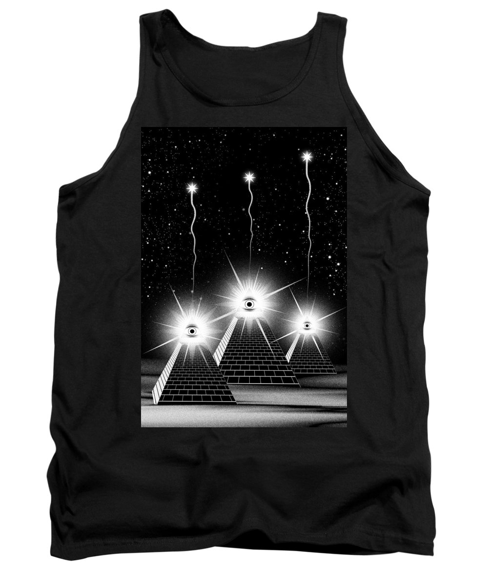 Egypt Tank Top featuring the digital art Secrets Of The Pyramids by Filippo B