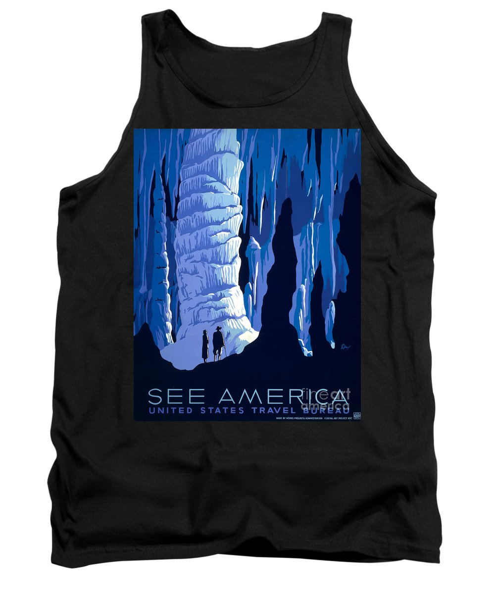 1937 Tank Top featuring the photograph See America 1937 by Granger