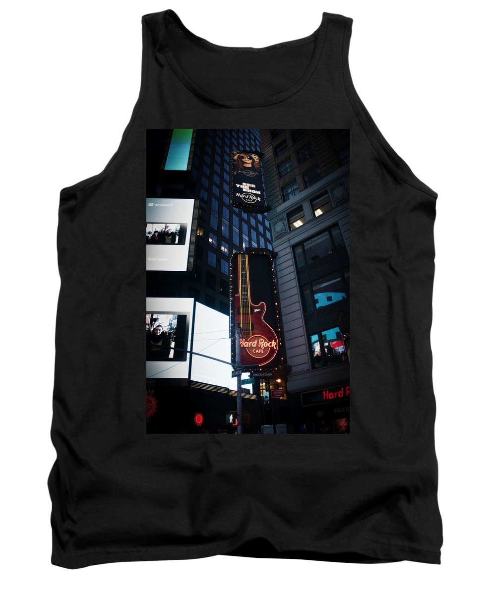 Times Square Tank Top featuring the photograph See The Show by Teresa Mucha