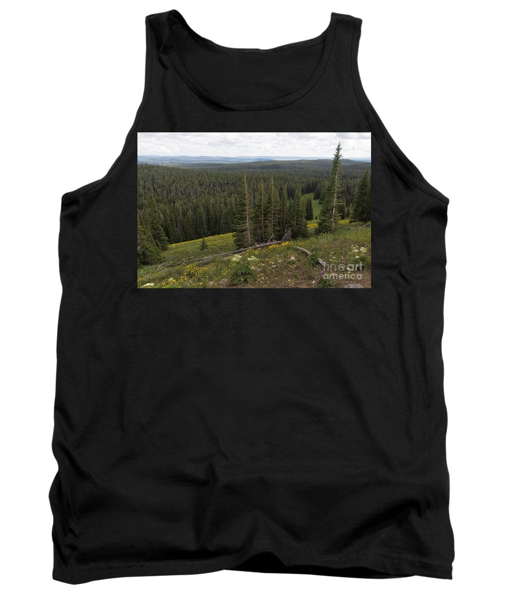 Yellowstone Tank Top featuring the photograph Seeing Forever - Yellowstone by Belinda Greb