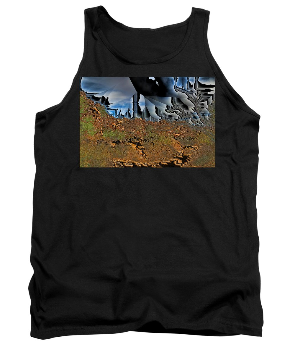Abstract Tank Top featuring the digital art Pollution by Jack Bowman