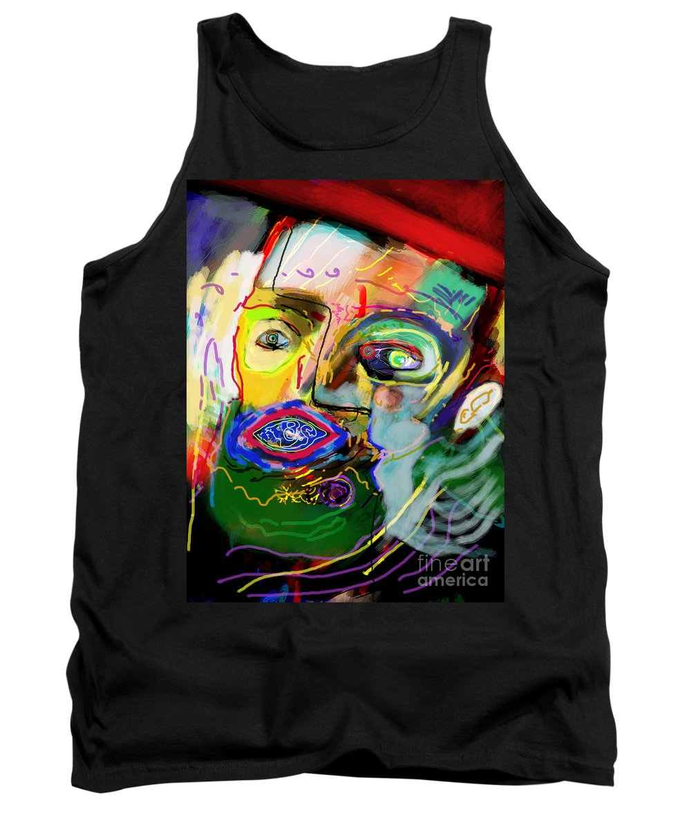 Torah Tank Top featuring the digital art This One Acquired Wisdom 15 by David Baruch Wolk