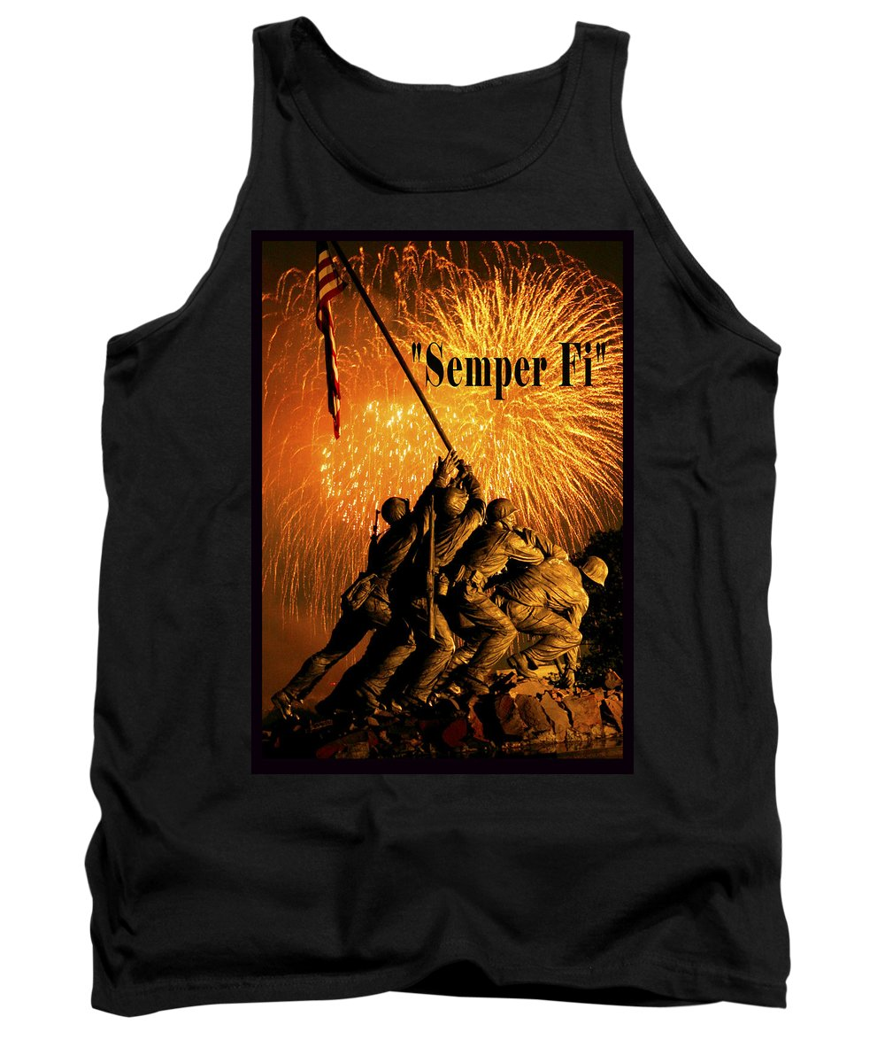 Government Photographer Tank Top featuring the digital art Semper Fi by Government Photographer