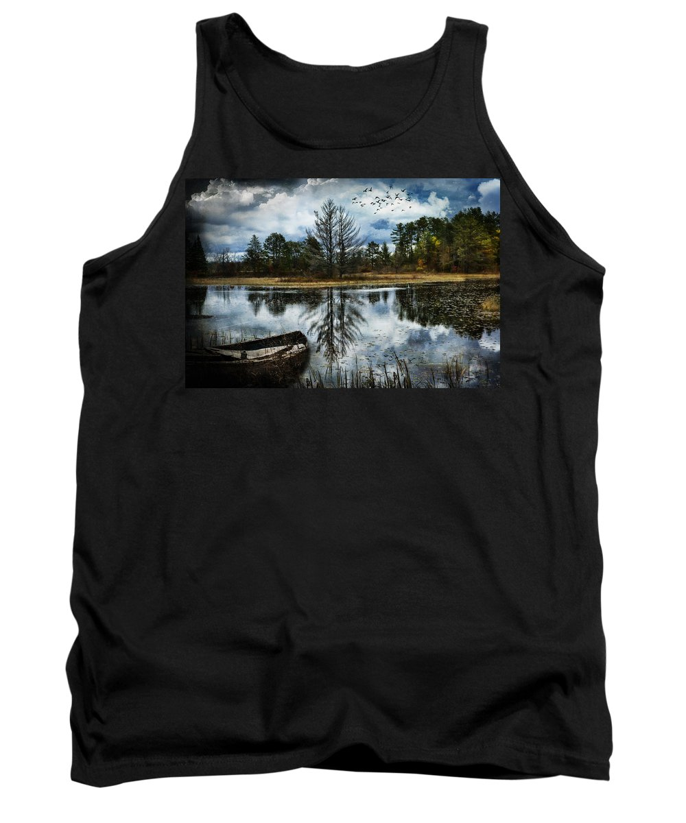 Evie Tank Top featuring the photograph Seney And The Rowboat by Evie Carrier